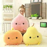Cartoon Fruit Plush Toys 45cm Pear/Peach/Mango/orange Plush Cloth Doll Soft Pillow Cushion birthday Gift For Baby Toys