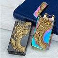 Импульсная дуговая зажигалка  перезаряжаемая USB Зажигалка  креативный дизайн  электрическая двойная дуга  плазменная Зажигалка для сигарет...