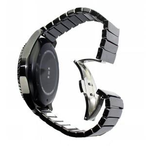 Image 5 - 22mm 20mm Ceramic Xem Nhạc Cho Samsung Galaxy Đồng Hồ 42mm 46mm Dây Đeo Bướm Khóa Thay Thế Vòng Đeo Tay strap watchbands