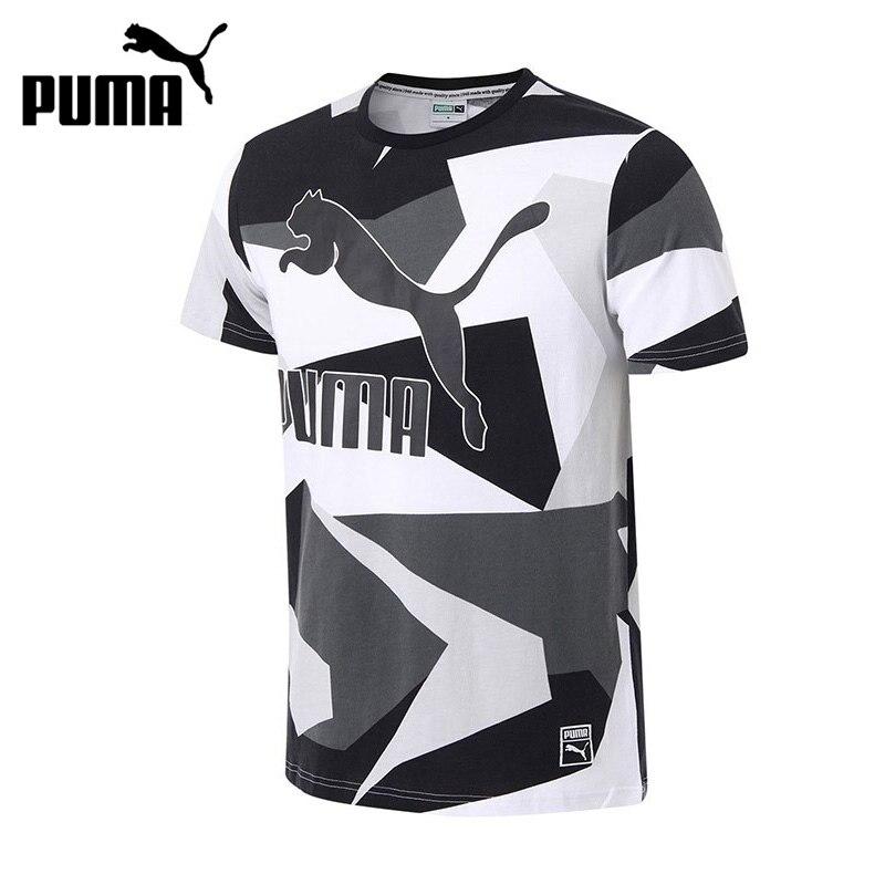 Original New Arrival 2017 PUMA Archive Logo Tee AOP Men's T-shirts short sleeve Sportswear original new arrival 2017 adidas club tee men s t shirts short sleeve sportswear