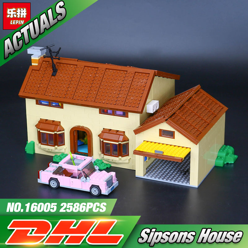 Lepin 16005 Genuine 2575Pcs Series The Simpson's family Kwik-E-Mart Set Building Blocks Bricks Educational Funny Toys
