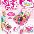 The New Children's Play Simulation Of Supermarket Shopping Cart Shopping Trolley Car Toy Fruit Children