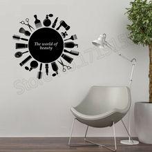 Fashion salon wall stickers Creative quotes decor Art Wall Poster Decorative vinyl sticker mural for barbershop ZW12