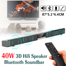 40W HIFI TV Soundbar Stereo Speaker Bass Sound Bar Bluetooth Speaker Home Theater Wireless Boombox Surround Sound System bluetooth speaker tv soundbar 4 driver home theater stereo heavy bass tf card n s09 wall mounted speaker smart home soundbar new