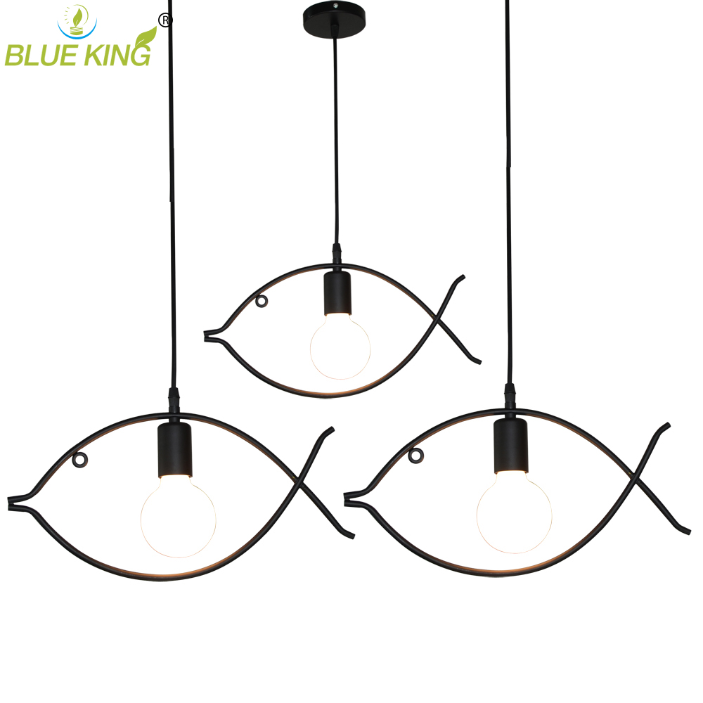 DIY Antique black Retro Wire Cafe Loft Droplight Fixture Iron Cage Pendant Light Hanging fish pendant lamp for dinning room vintage iron pendant light loft retro droplight bar cafe bedroom restaurant metal cage ith led bulb hanging lamp ac110v 220v e27