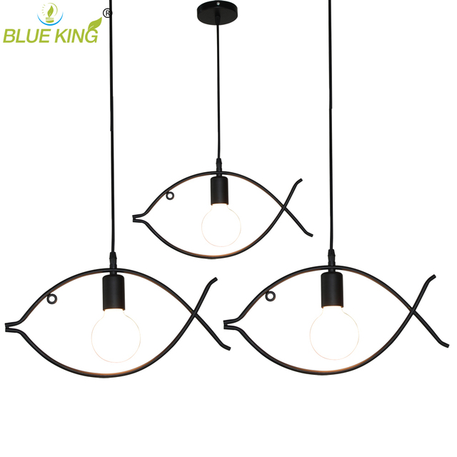 diy antique black retro wire cafe loft droplight fixture iron cage pendant  light hanging fish pendant lamp for dinning room