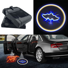 1pcs Wireless LED Car Door Welcome Light Projector Laser Batman Logo Ghost Shadow Decorative Lamp for Volvo Fiat Seat Opel Skoda(China)