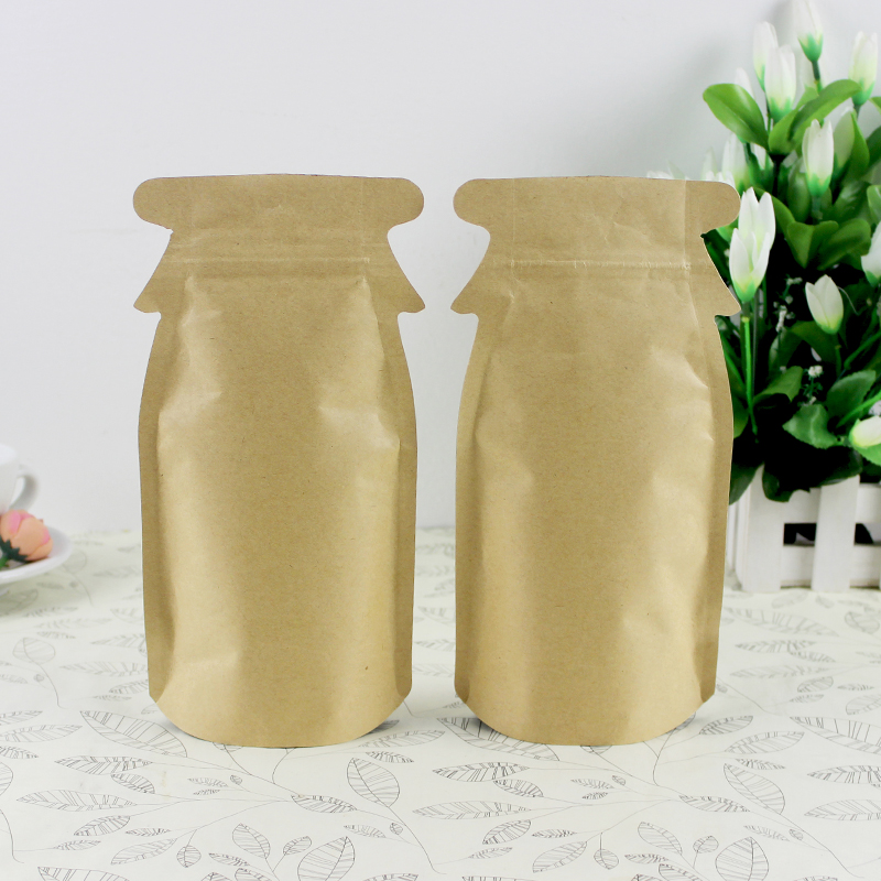 12cm*23cm+4 New Design Penguin Food Whole grains Packing Bags  Kraft paper Sealing damp-proof Stand-up pouches 50PCS