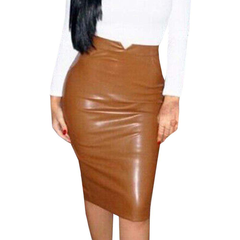 Sexy PU Leather Skirt Fashion European And American Style ...