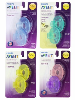 Free Shipping Avent Pacifier Avent Orthodontic Soother Avent Soothie Nipple BPA-Free Dummy-0-3M 2 Pieces
