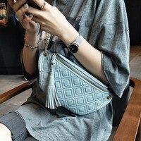 BRIGGS fanny pack for women waist bag genuine leather belt bag purse fashion money belt ladies fashion shoulder bag chain female