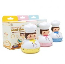 ZW040 Cute Kitchen timer Chefs kitchen 60 Minute Cooking Mechanical Home Decoration Cartoon Mini 7*7*10cm