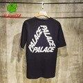 Дворец скейтборд рубашка homme хип-хоп трэшер скейтборд футболка мужчины 100% Хлопок Топы & Tee Дворец Футболки KANYSP