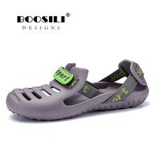 fe3ac9597 2019 Sale Real Brand Fashion Sandals Eva Clogs Swimming Shoes Men Croc Band  Summer Water Black White Air Beach Garden Mens Shoe