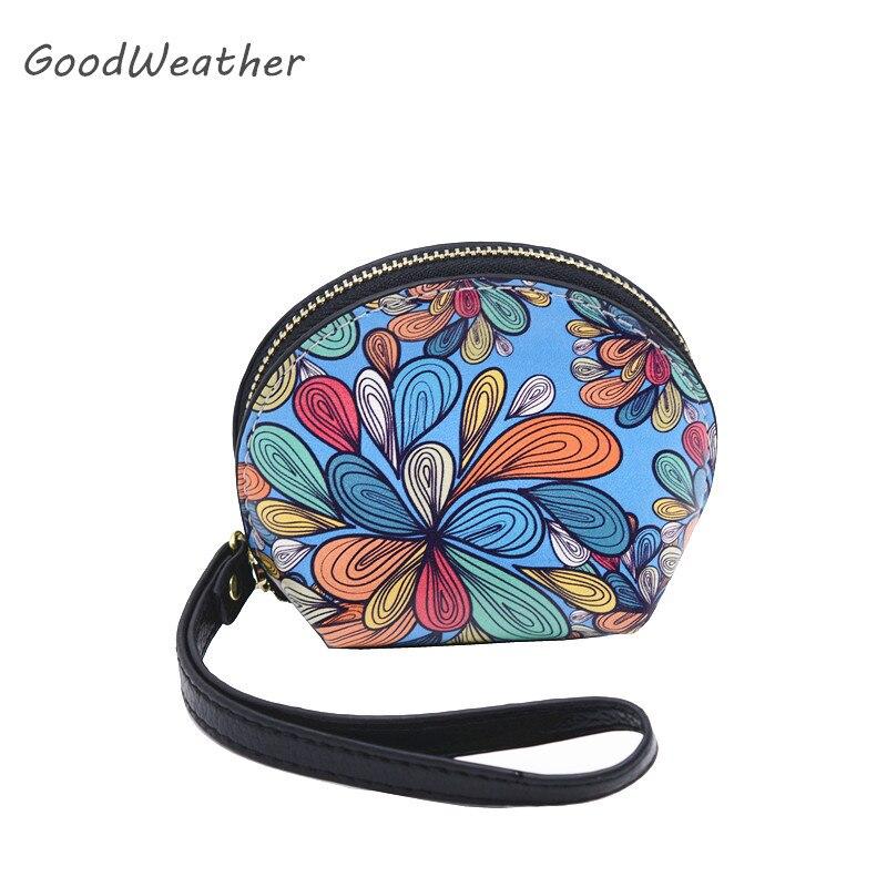 Designer női érme erszényes mini shell alakú csuklós táska párt aranyos kék valódi bőr pénztárca női cserélő táskák 2color