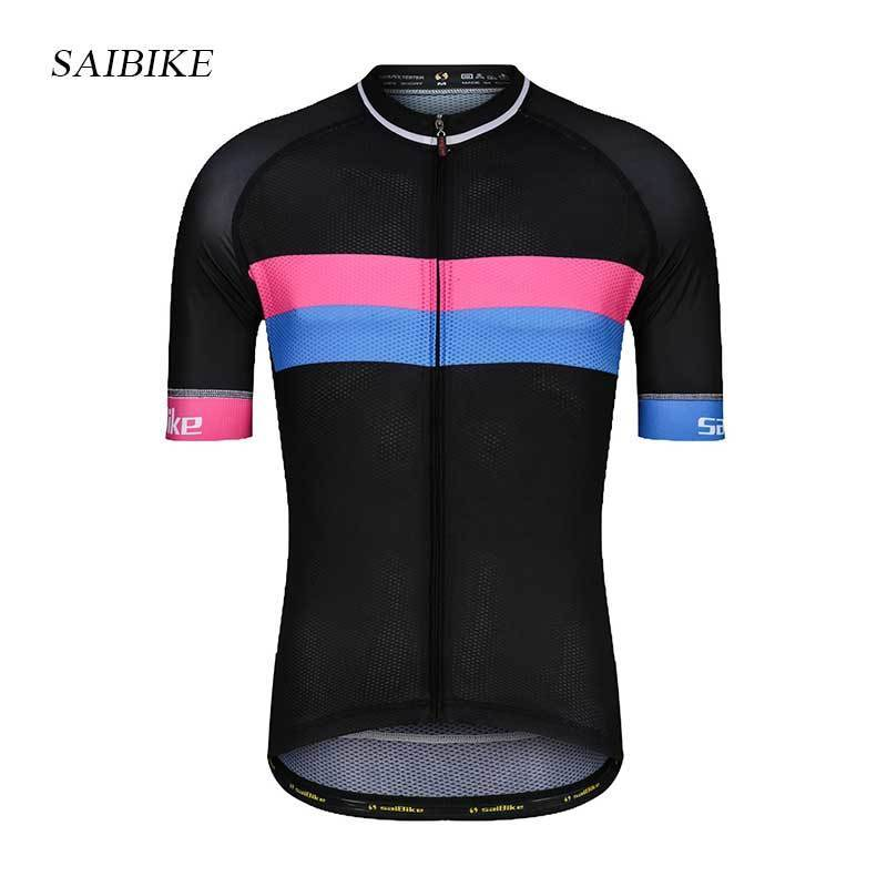 saibike Cycling jersey 2018 New men summer bicycle short sleeves road bike mtb sports clothing breathable size XS 5XL