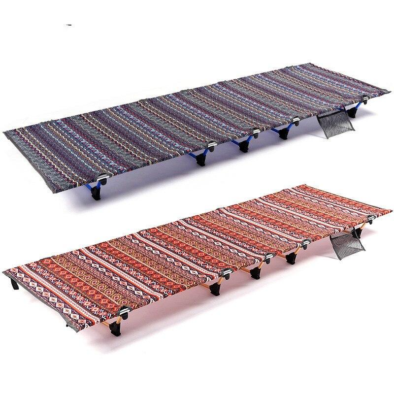 Портативная раскладная кровать для кемпинга на открытом воздухе из алюминиевого сплава, односпальная кровать-компаньон, обеденная кровать...