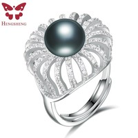 HENGSHENG 100 Genuine Natural Pearl Elegent Women Ring Set With 11 11 5mm Pearl And 200