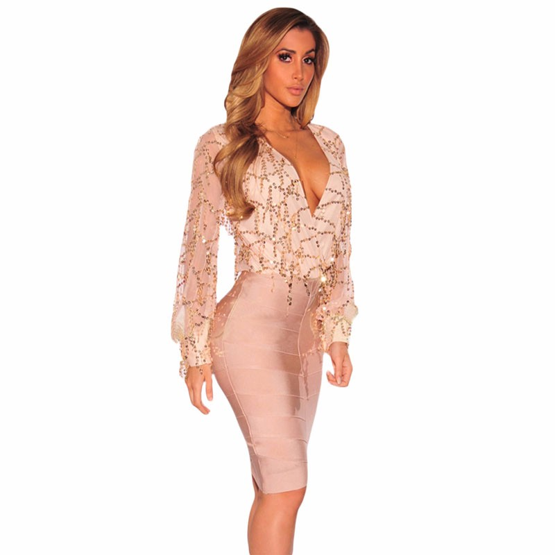 Apricot-Flowing-Sequins-Long-Sleeves-Bodysuit-LC32082-18-3