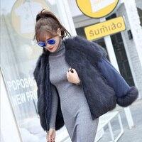 Зимняя куртка Для женщин 2018 Новая мода парки обе стороны носить Натуральный Реальный лисий мех пальто Водонепроницаемый ткань Курточка бом