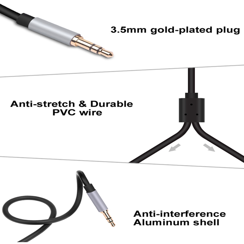 Aux RCA Cable 3.5 Jack 2 RCA to 3.5mm SPDIF RCA Auxiliary Audio Video 2RCA HiFi Aux Speaker wire for Subwoofer Amplifier DVD TV