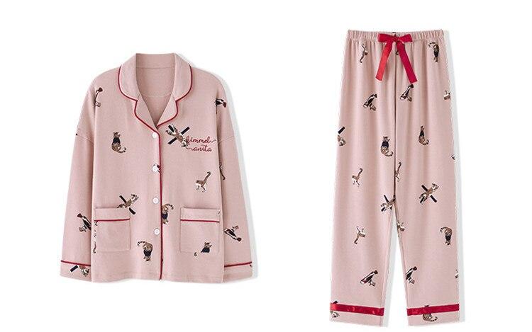 Cotton Women 7 Pieces Pajamas Sets Women Pajamas Sleepwear Sets Spring Homewear Top And Shorts