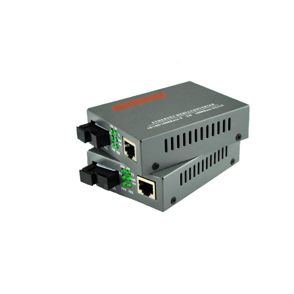 NEW 1 Pair HTB-GS-03 A//B Gigabit Fiber Optical Media Converter 1000Mbps 20KM
