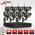 Plug And Play Wireless CCTV System 8CH H.264 NVR 2TB HDD 720P HD Varifocal 2.8mm-12mm Lens Outdoor IR Security IP Camera System