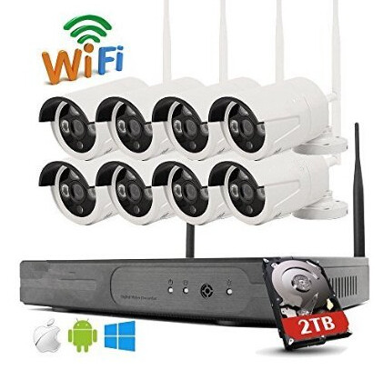 8CH CCTV System Wireless 960P NVR 8PCS 1.3MP IR Outdoor P2P Wifi IP CCTV Security Camera System Surveillance Kit