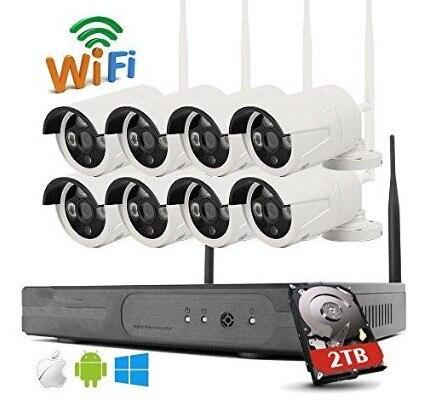 8CH CCTV System Wireless 960P NVR 8PCS 1.3MP IR Outdoor P2P Wifi IP CCTV Security Camera System Surveillance Kit