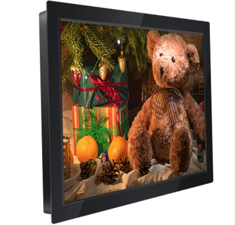 8 inch Wall-mounted metal case industrial touch monitor/8 inch 1024x768 DVI HD interface LCD touch screen display;
