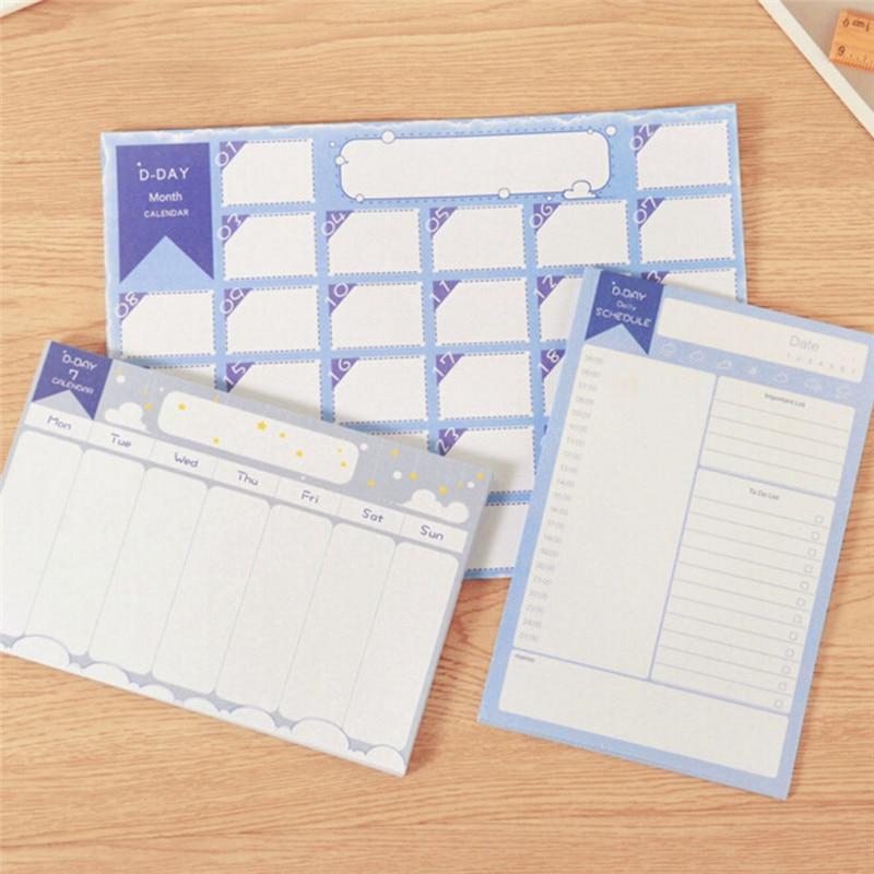 Liberaal Superdeal 20 Sheets/pack Maand/week/dag Countdown Kalender Leren Schema Periodieke Planner Tafel Gift Voor Kids Studie Planning