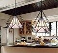 Железная Пирамида черного цвета  кухонный дом  кованый железный подвесной светильник