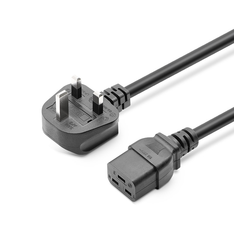 IEC C19 to UK Plug 3 Prong AC Power Cable Adapter ,Quality UPS Power cord UK 13A Male to IEC C19 Female Plug uk power adaptor cord iec c14 male plug to uk 3pin female socket power adapter cable for pdu ups 13a 50pcs