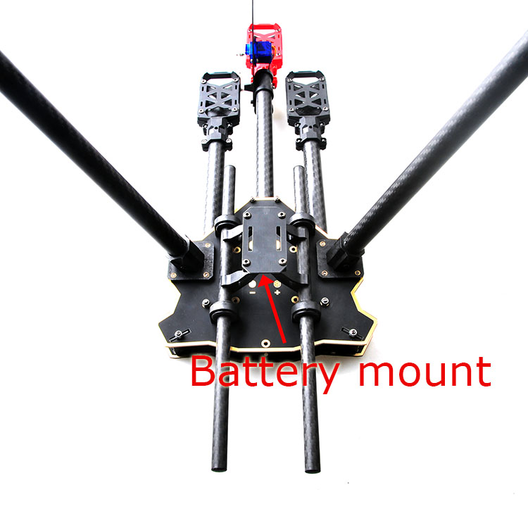 F10811 HMF Y600 Tricopter 3 achse Copter Rahmen Kit Hohe Landing ...