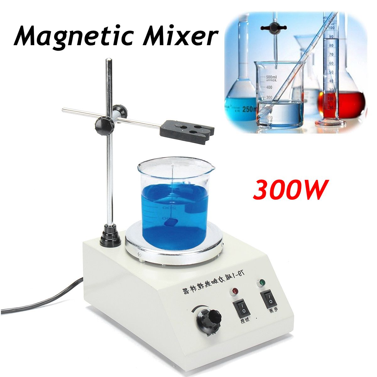 220v / 50Hz 300W 79-1 Magnetism Stirrer Heating Mixer Hot Plate Magnetic Machine free shipping 7 15 mm ptfe magnetic stirrer mixer stir bar with pivot ring white color