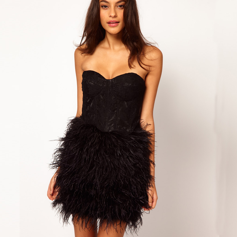 Popular Short Feather Dress-Buy Cheap Short Feather Dress lots ...