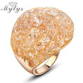 Mytys Hot Sale  Ring  Gold Wire Mesh Net Rings in Stock Cheap price Crystal Ring R575