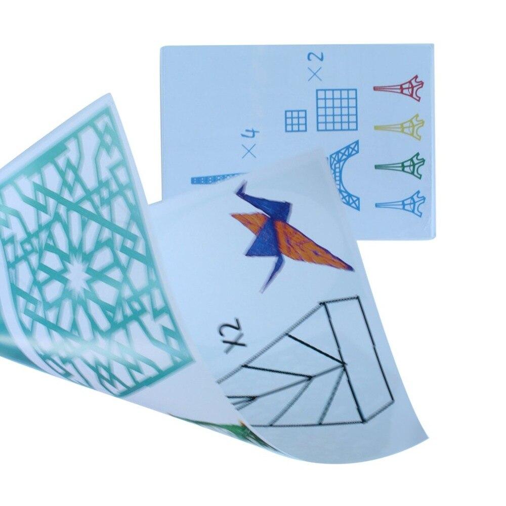 A4 rozmiar dzieci rysunek 3D kopii płyta papieru formy do 3D drukowanie długopis rysunek szablony i Doodle XP najlepszy prezent dla dzieci