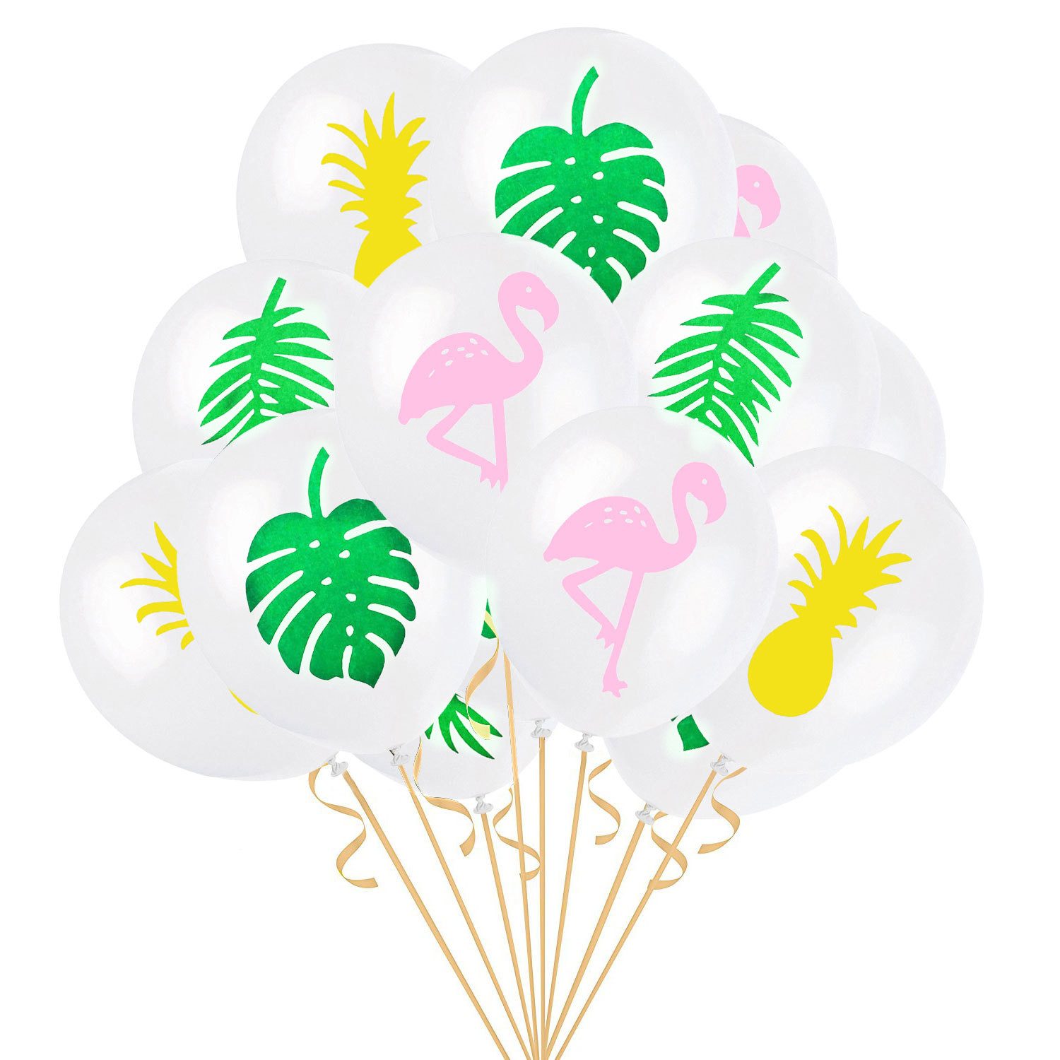 Printed Balloon Gold Green Latex Pineapple Theme Clear Balloon Luau Decoration Summer Party Pineapple Party Pineapple Latex Pineapple Balloons Luau Party Decorations