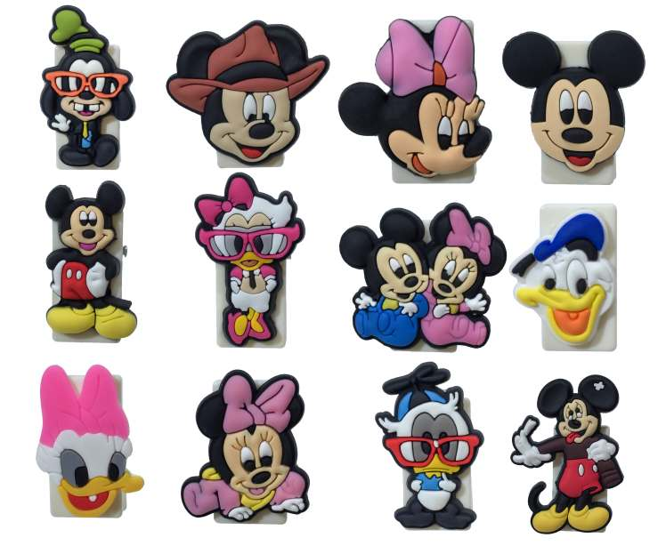 12PCS Pvc Cartoon Paper Clips Hot Cartoon Bookends Office & School Accessories Conductive To Collect Bind Classify