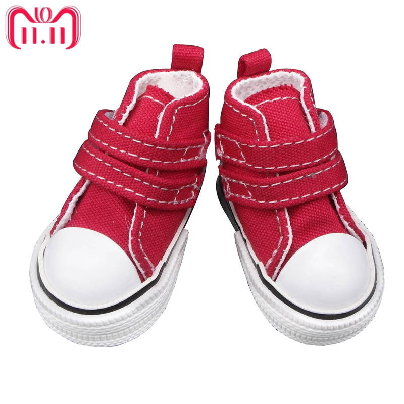 Tilda Fashion Shoes For Paola Reina Doll,Canvas Denim Toy Sport Shoes for Corolle,1/3 Bjd Doll Footwear Gym Sneakers for Dolls цена
