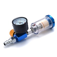 купить 1/4 Air Pressure Regulator Aluminum Alloy Spray Gun Pressure Gauge Regulator In-Line Water Trap Filter Pneumatic Tools
