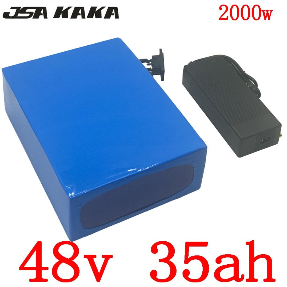 48V 1000W 2000W batterie 48v 35ah batterie de vélo électrique 48V 35AH batterie lithium-ion avec chargeur 50A BMS et 5A sans frais