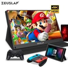 15.6 pouces 4K + HDR NTSC 72% IPS écran USB C HDMI moniteur Portable pour commutateur Xbox One PS4 moniteur de jeu