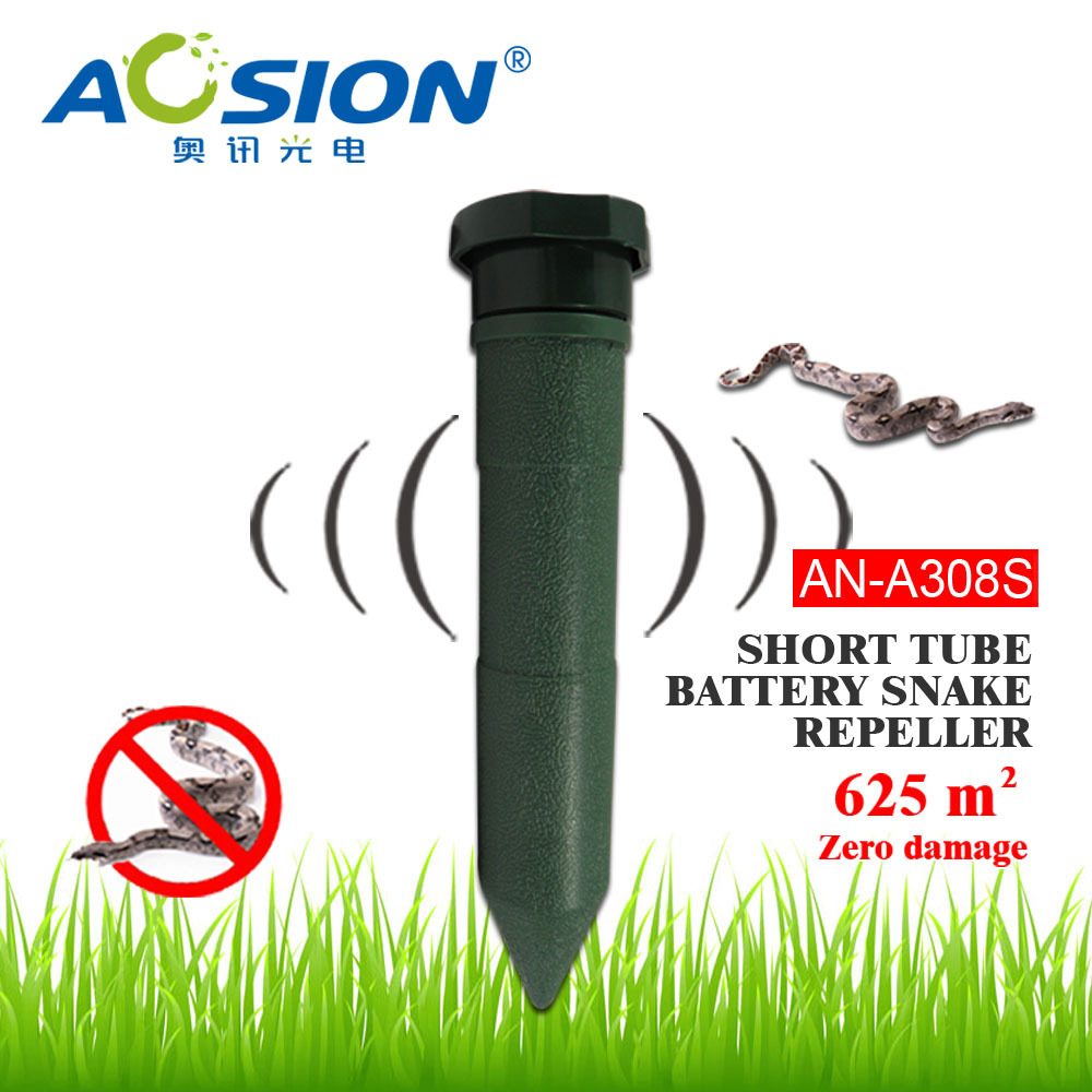 Aosion Garden Battery plastic rodent snakes repeller repellent emitting sound and vibration to repel snake AN-A308S