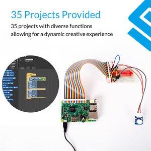 Image 4 - Sunfounder, kit de 37 módulos em 1 caixa sensor v2.0 para raspberry pi 4b 3b + 3b 2b b + rpi 1 modelo b + kit iniciante