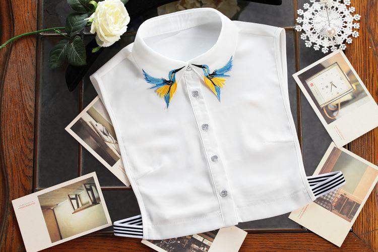 Fesyen Reka Bentuk Baru Burung sulaman bordir kalung rompi baju Tali - Pakaian wanita - Foto 5