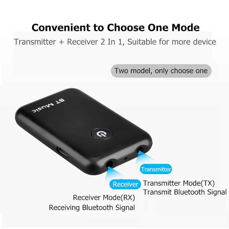 2 в 1 Передача получить беспроводной Bluetooth AUX адаптер 4,2 3,5 мм Jack аудио для столов ТВ домашняя звуковая система автомобильная стереосистема