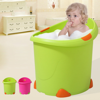 2019 Fashion Foldable Children's Bath Tub Candy colored Large Baby Bath Tub Safety Security Seat Baby Non Slip Shower Bathtub